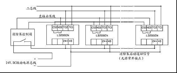 设备的技术支持:主要针对于模块、探头的编码。 EN系列主机采用混合编址。但为了便于现场编写逻辑关系及后期维护保养建议采取以下顺序编址:感烟探测器感温探测器燃气探测器手动报警按钮消火栓按钮输入模块输入输出模块。 其次是探测器、模块等的接线方式。一般情况下施工方要了解接线方式,就要考虑到现场有没有预埋走线,是否需要重新布线。 一.现场经常用到的几种探头的技术支持 1.LD10EN底座:用于LD3000EN/A、LD3300EN等探测器,采用二总线并联接线方式,TC+,TC-端子不分正负极。  图1.